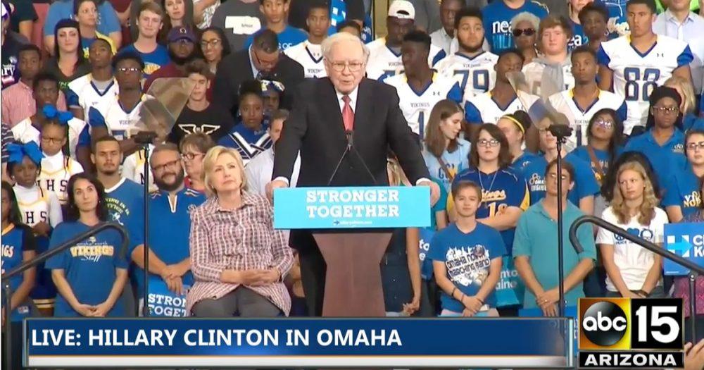 Warren Buffett addresses rally